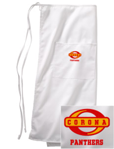 Corona High School Panthers Embroidered Full Bistro Bib Apron