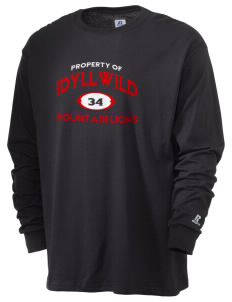 Idyllwild School Mountain Lions  Russell Men's Long Sleeve T-Shirt