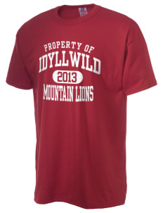 Idyllwild School Mountain Lions  Russell Men's NuBlend T-Shirt