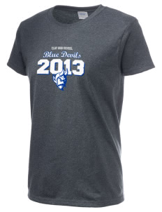 Clay High School Blue Devils Women's 6.1 oz Ultra Cotton T-Shirt