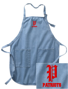 American High School Patriots Embroidered Full-Length Apron with Pockets