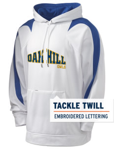 Oak Hill Elementary School Owls Holloway Men's Sports Fleece Hooded Sweatshirt with Tackle Twill