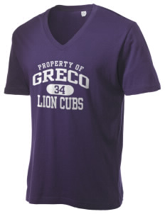 Greco Middle School Lion Cubs Alternative Men's 3.7 oz Basic V-Neck T-Shirt