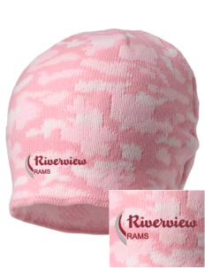 Riverview High School Rams Embroidered Camo Beanie