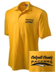 Colquitt County High School Packers Embroidered Men's Jersey Polo