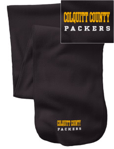 Colquitt County High School Packers  Embroidered Extra Long Fleece Scarf
