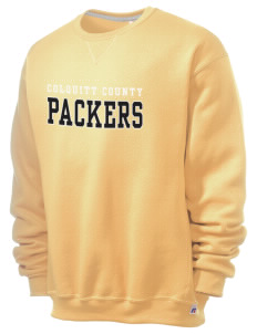 Colquitt County High School Packers  Russell Men's Dri-Power Crewneck Sweatshirt