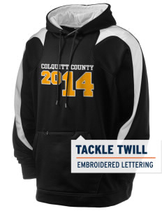 Colquitt County High School Packers Holloway Men's Sports Fleece Hooded Sweatshirt with Tackle Twill