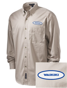 Waikiki Elementary School Waikiki Warriors Embroidered Tall Men's Twill Shirt