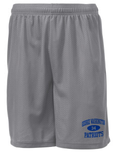 "George Washington Elementary School Patriots Men's Mesh Shorts, 7-1/2"" Inseam"