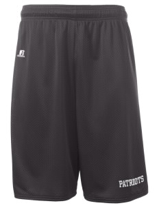 "George Washington Elementary School Patriots  Russell Deluxe Mesh Shorts, 10"" Inseam"