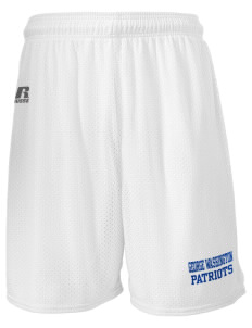 "George Washington Elementary School Patriots  Russell Men's Mesh Shorts, 7"" Inseam"