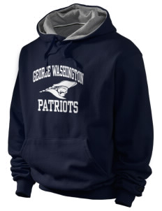 George Washington Elementary School Patriots Champion Men's Hooded Sweatshirt