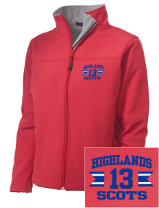 Highlands High School Scots Embroidered Women's Soft Shell Jacket