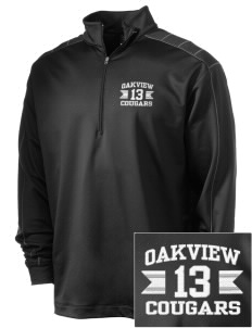 Oakview Community School Cougars Embroidered Nike Men's Golf Dri-Fit 1/2 Zip