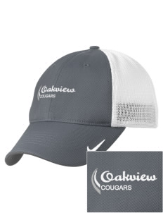 Oakview Community School Cougars Embroidered Nike Golf Mesh Back Cap