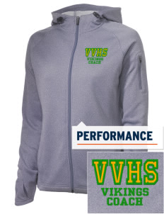 Valley View High School Vikings Embroidered Women's Tech Fleece Full-Zip Hooded Jacket