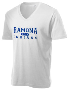 Ramona Junior High School Indians Alternative Men's 3.7 oz Basic V-Neck T-Shirt