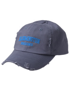 Bloomington High School Bruins Embroidered Distressed Cap