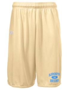 "Bloomington High School Bruins  Russell Deluxe Mesh Shorts, 10"" Inseam"