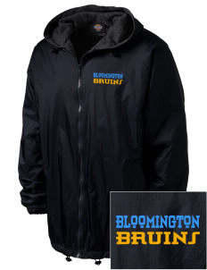 Bloomington High School Bruins Embroidered Dickies Men's Fleece-Lined Hooded Jacket