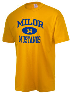 Milor Continuation Senior High School Mustangs  Russell Men's NuBlend T-Shirt