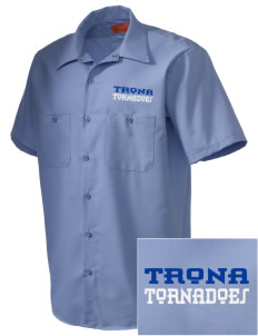 Trona Elementary School Tornadoes Embroidered Men's Cornerstone Industrial Short Sleeve Work Shirt