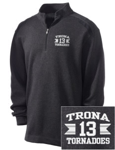 Trona High School Tornadoes Embroidered Nike Men's Golf Heather Cover Up