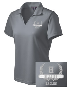 Hillside High School Eagles Embroidered Women's Dri Mesh Polo