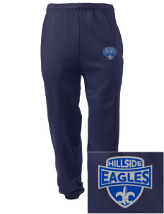 Hillside High School Eagles Embroidered Men's Sweatpants with Pockets