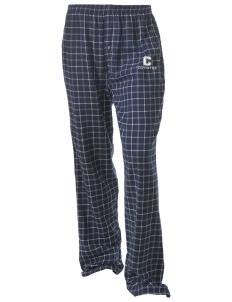 Crest Elementary School Coyotes Unisex Button-Fly Collegiate Flannel Pant with Distressed Applique