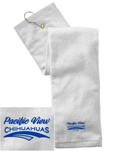 Pacific View Elementary School Chihuahuas Embroidered Hand Towel with Grommet