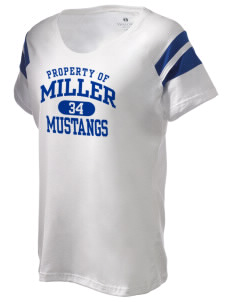 Miller Elementary School Mustangs Holloway Women's Shout Bi-Color T-Shirt