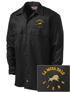 La Mesa Dale Elementary School Lions Embroidered Dickies Men's Long-Sleeve Workshirt