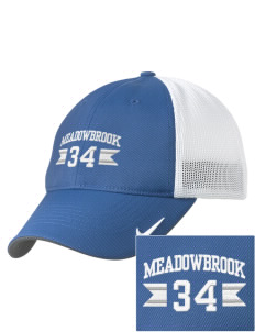 Meadowbrook Middle School Mustangs Embroidered Nike Golf Mesh Back Cap