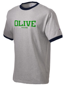 Olive Elementary School Falcons Champion Men's Ringer T-Shirt