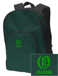Olive Elementary School Falcons Embroidered Value Backpack