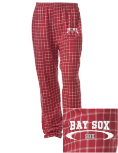 Bay Sox Sox Embroidered Unisex Button-Fly Collegiate Flannel Pant