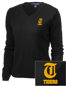 Golden Gate Elementary School Tigers Embroidered Women's V-Neck Sweater