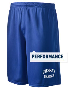 "Sherman Elementary School Sharks Holloway Men's Speed Shorts, 9"" Inseam"