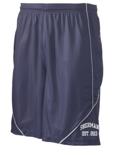 "Sherman Elementary School Sharks Men's Pocicharge Mesh Reversible Short, 9"" Inseam"