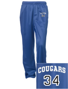 Colonial Heights Elementary School Cougars Embroidered Women's Tricot Track Pants
