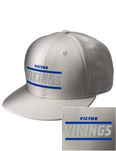 Victor Elementary School Vikings  Embroidered New Era Flat Bill Snapback Cap