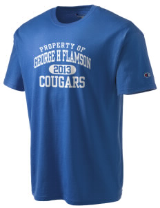 George H Flamson Middle School Cougars Champion Men's Tagless T-Shirt