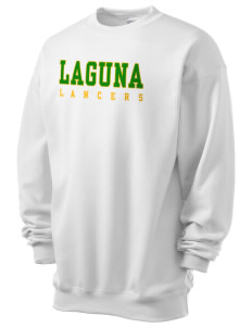 Laguna Middle School Lancers Men's 7.8 oz Lightweight Crewneck Sweatshirt