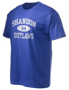 Shandon Senior High School Outlaws Hanes Men's 6 oz Tagless T-shirt