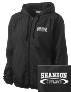 Shandon Senior High School Outlaws Embroidered Women's Hooded Essential Jacket
