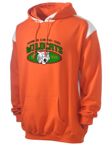 Washington Elementary School Wildcats Men's Pullover Hooded Sweatshirt with Contrast Color