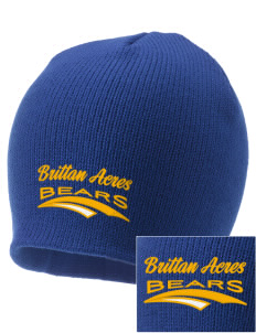 Brittan Acres Elementary School Bears Embroidered Knit Cap