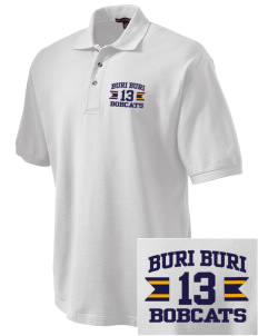Buri Buri Elementary School Bobcats Embroidered Tall Men's Pique Polo